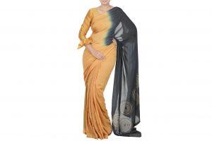 double coloured saree