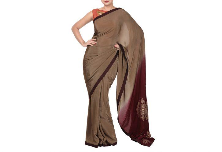 designer ombre sarees online