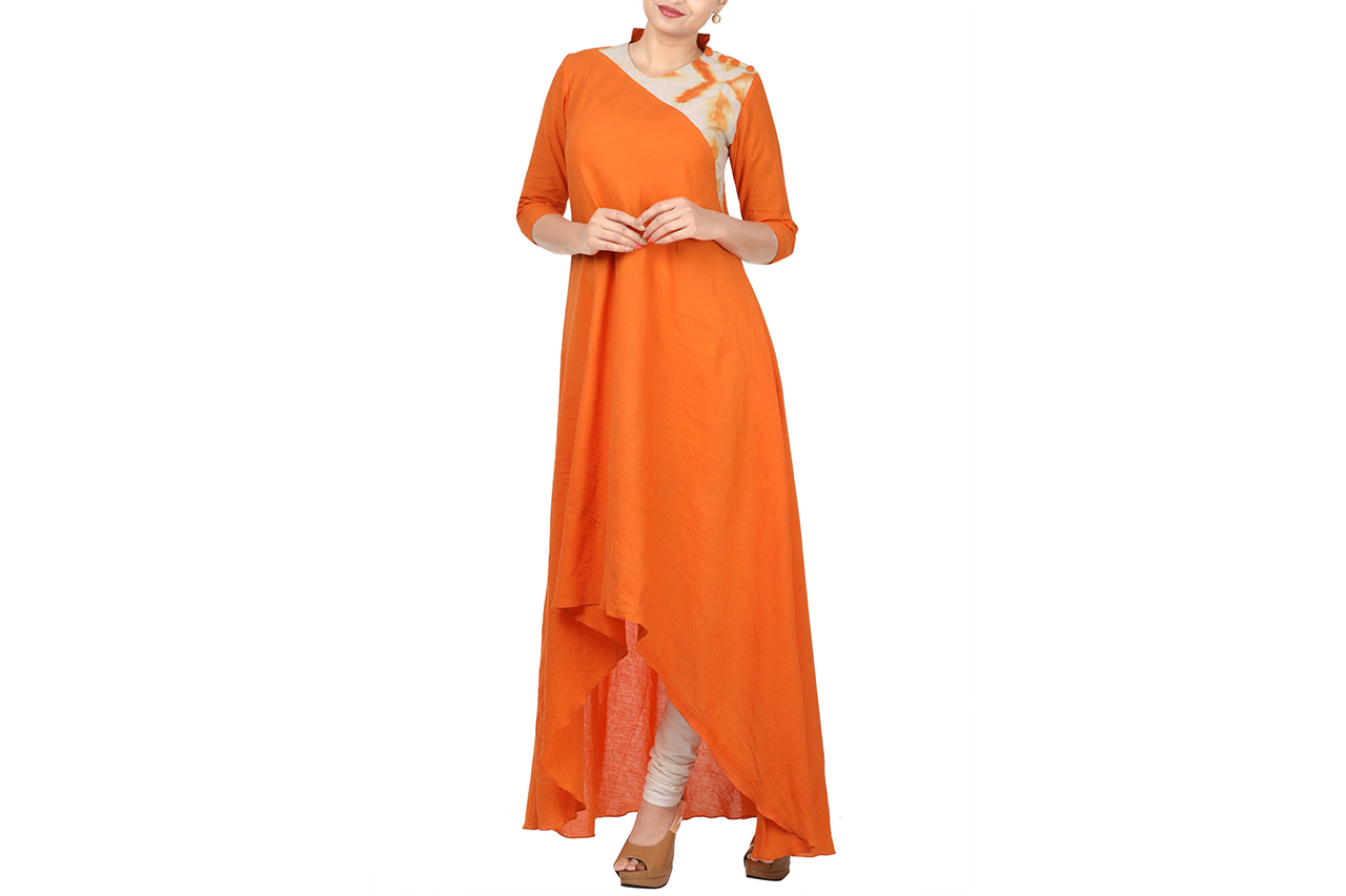 mangalgiri hi-low dress