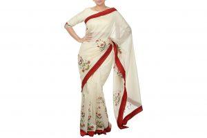 ivory white saree online