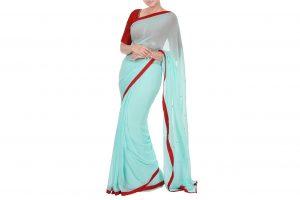 pastel blue saree online