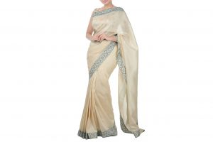 light peach saree online