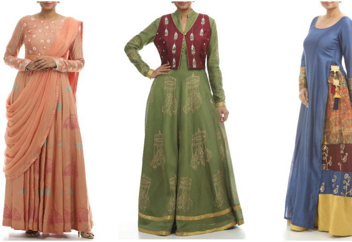 designer anarkali long dresses
